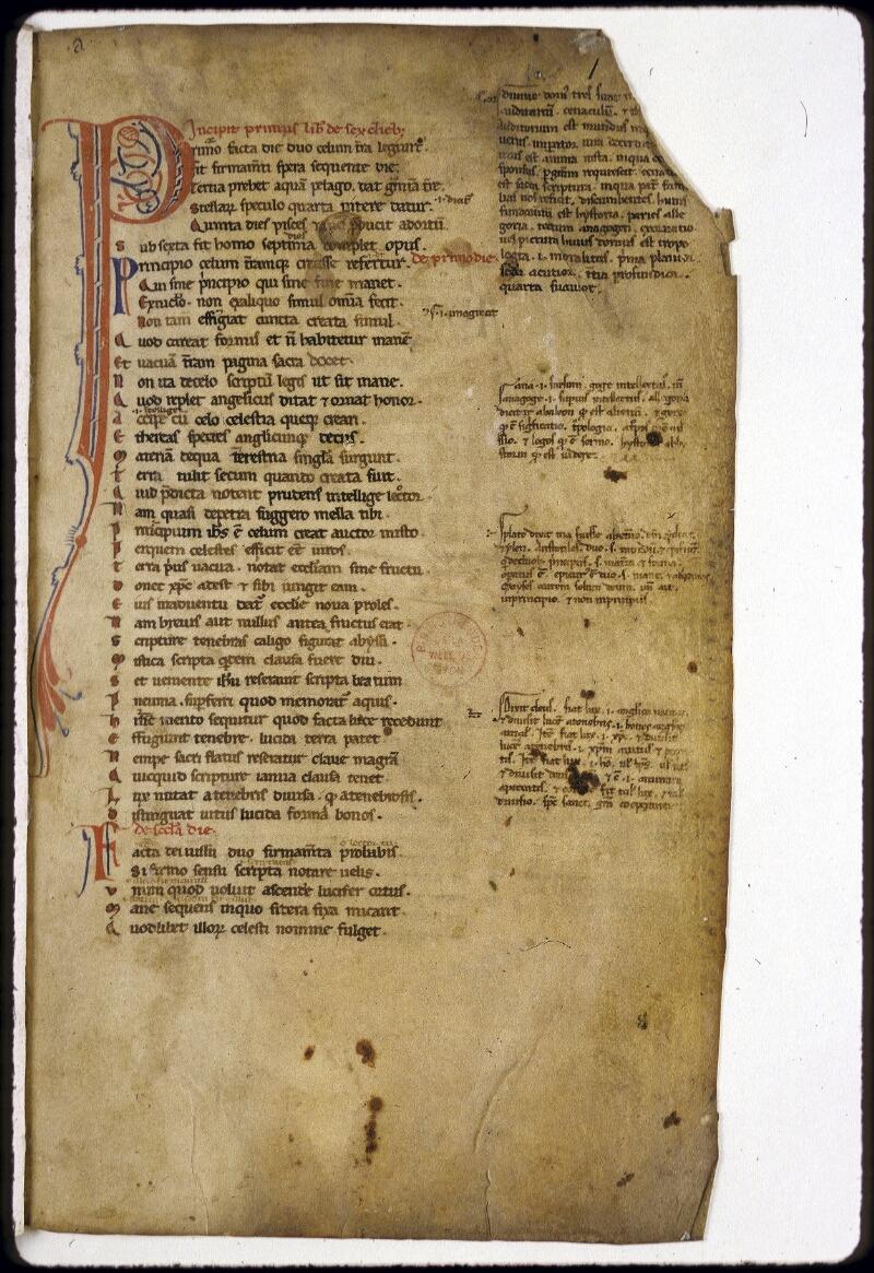 Lyon, Bibl. mun., ms. 0155, f. 001 - vue 2