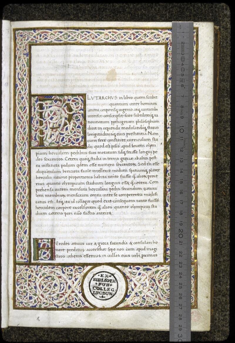 Lyon, Bibl. mun., ms. 0166, f. 001 - vue 1