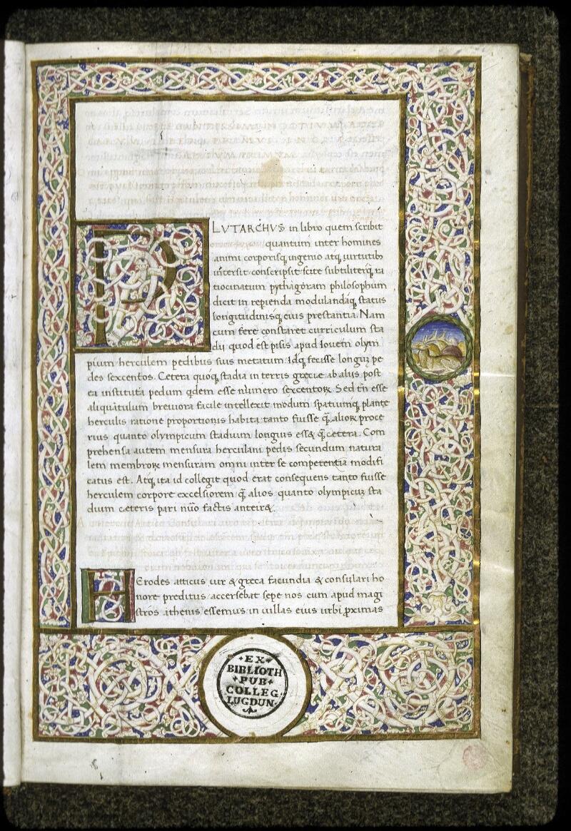 Lyon, Bibl. mun., ms. 0166, f. 001 - vue 2