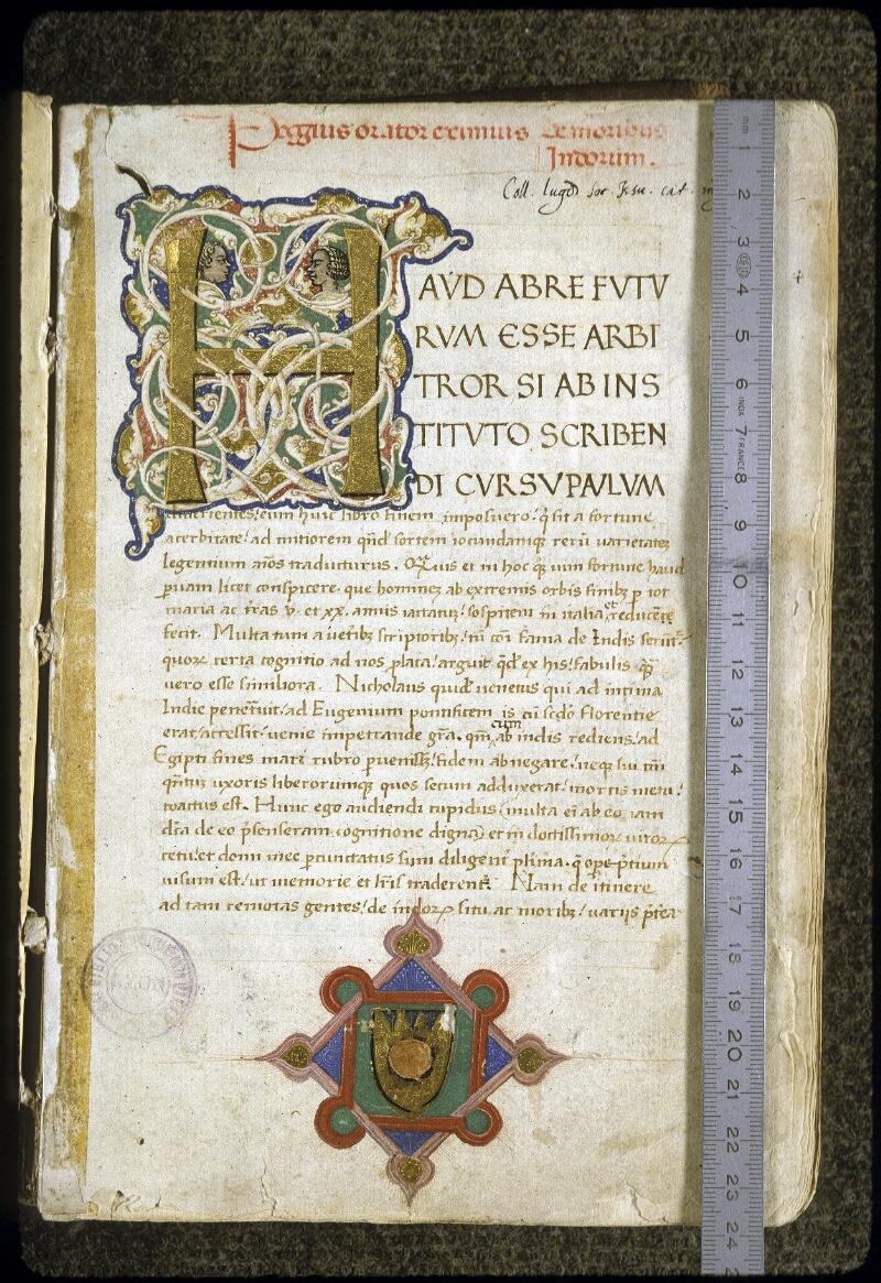 Lyon, Bibl. mun., ms. 0168, f. 001 - vue 1