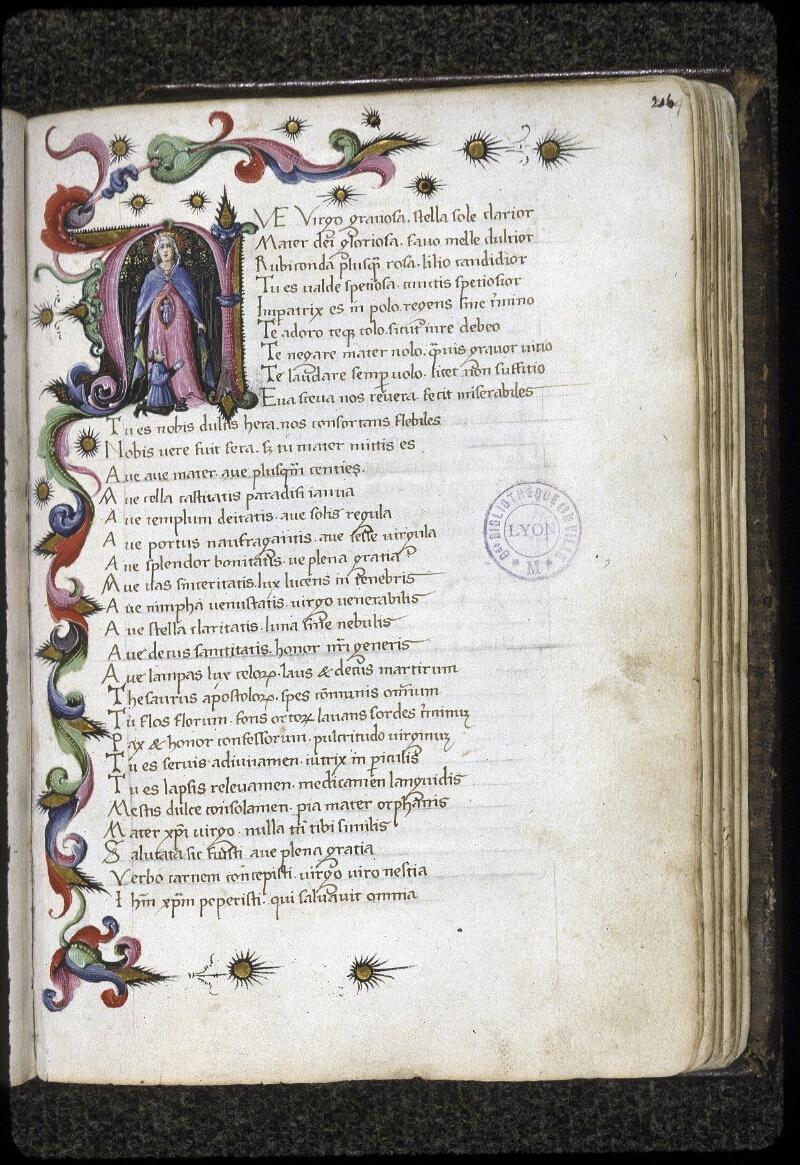 Lyon, Bibl. mun., ms. 0168, f. 216 - vue 1