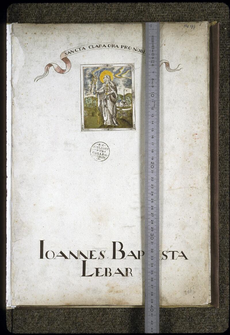 Lyon, Bibl. mun., ms. 0177, f. 001 - vue 1