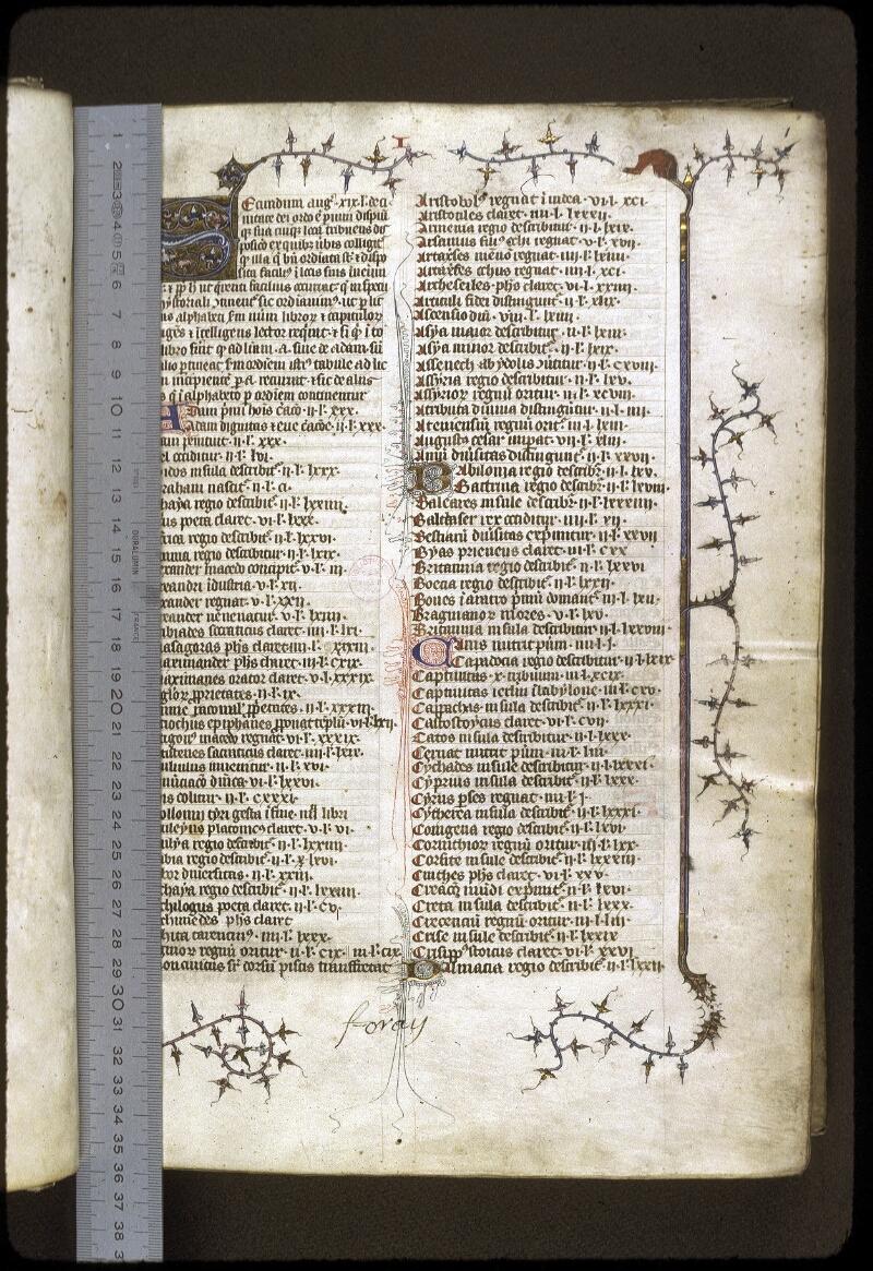 Lyon, Bibl. mun., ms. 0180, f. 001 - vue 1