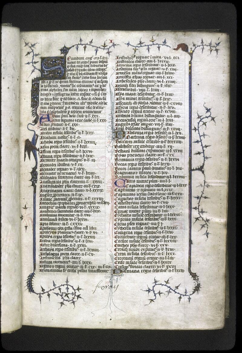 Lyon, Bibl. mun., ms. 0180, f. 001 - vue 2