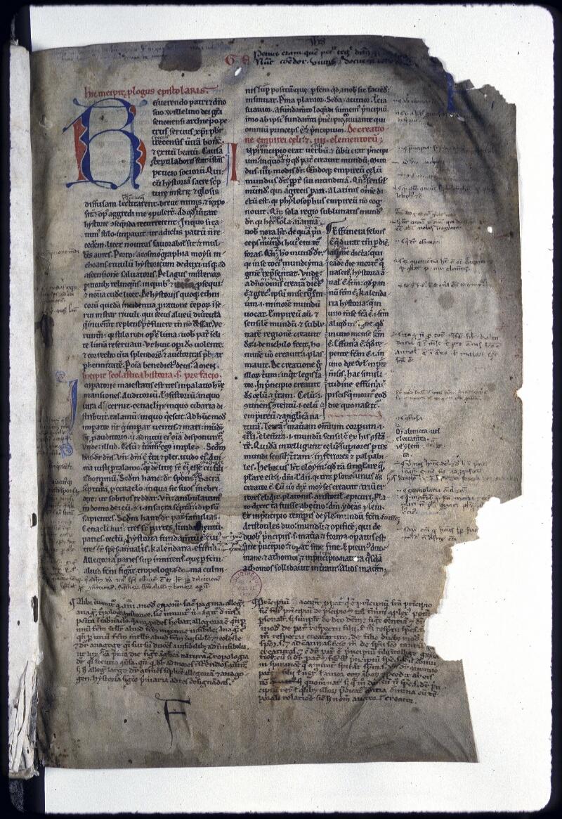 Lyon, Bibl. mun., ms. 0187, f. 001 - vue 2