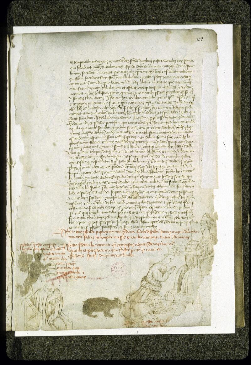 Lyon, Bibl. mun., ms. 0189, f. 027 - vue 1