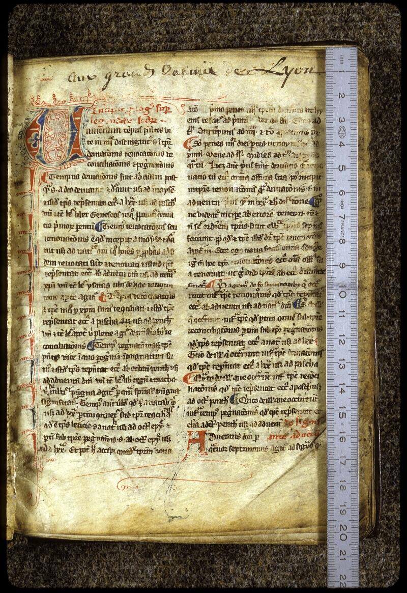Lyon, Bibl. mun., ms. 0215, f. 001