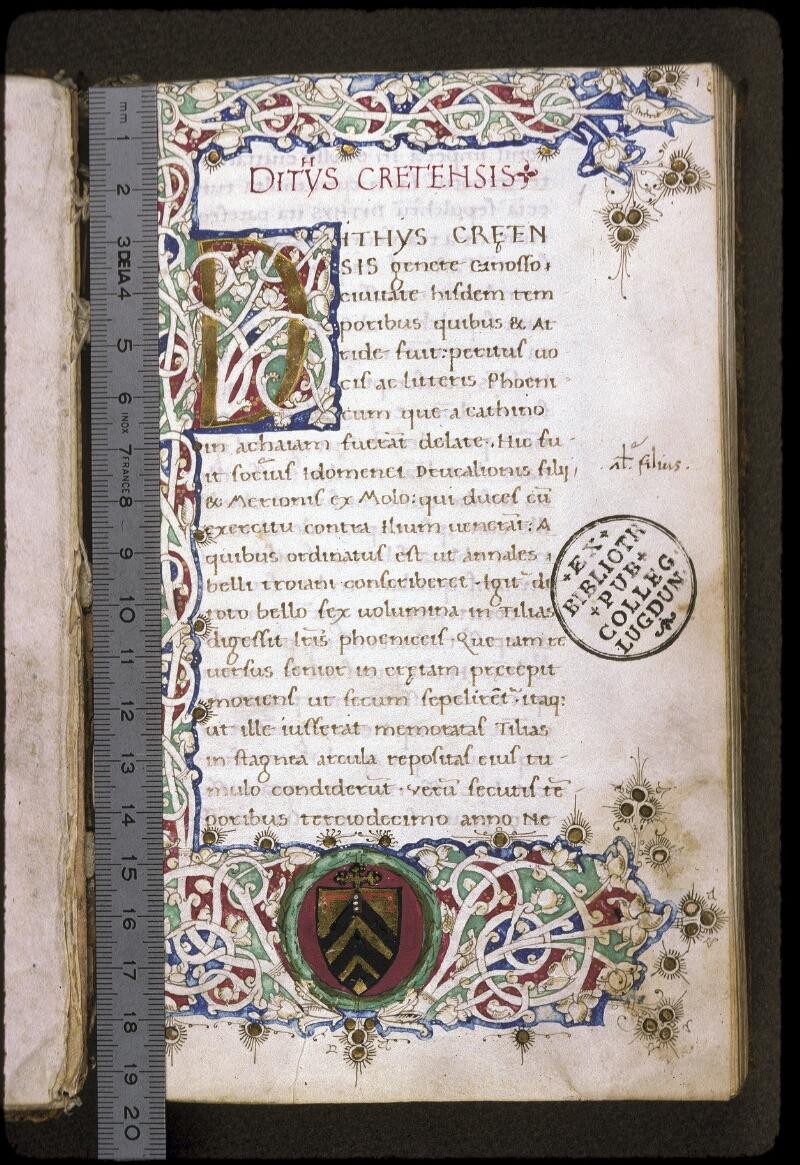 Lyon, Bibl. mun., ms. 0222, f. 001 - vue 1