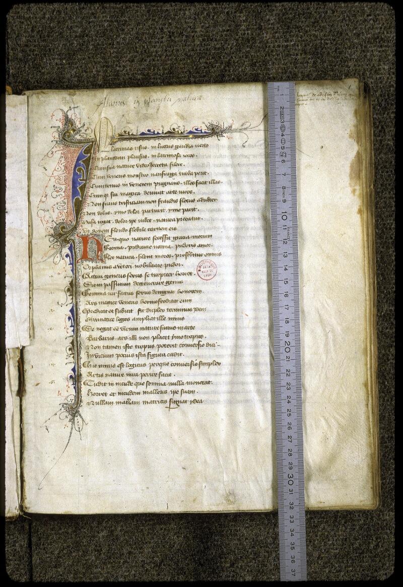 Lyon, Bibl. mun., ms. 0223, f. 001 - vue 1