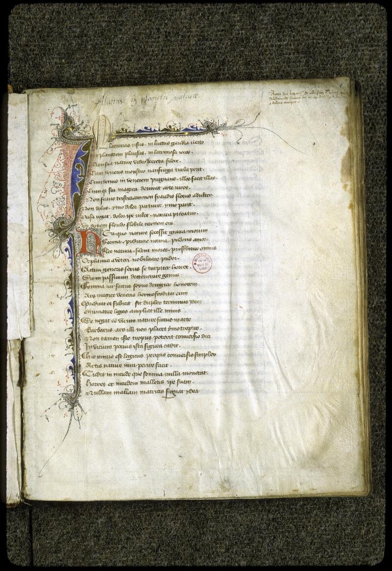 Lyon, Bibl. mun., ms. 0223, f. 001 - vue 2