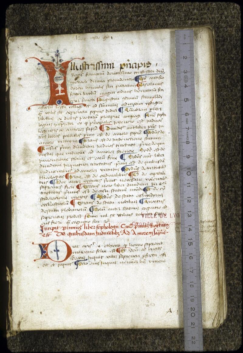 Lyon, Bibl. mun., ms. 0288, f. 001 - vue 1