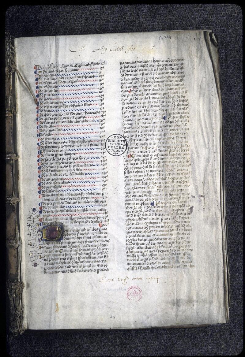 Lyon, Bibl. mun., ms. 0344, f. 001 - vue 2
