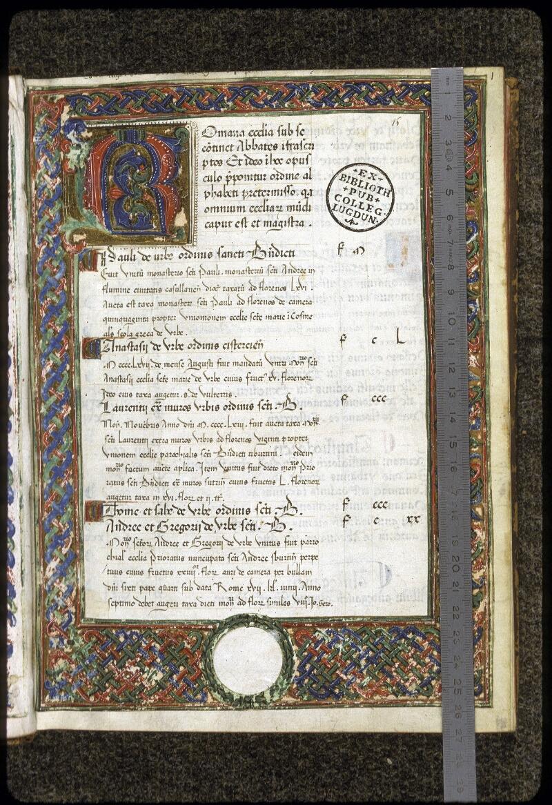 Lyon, Bibl. mun., ms. 0358, f. 001 - vue 1