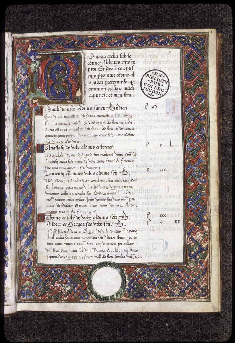 Lyon, Bibl. mun., ms. 0358, f. 001 - vue 2