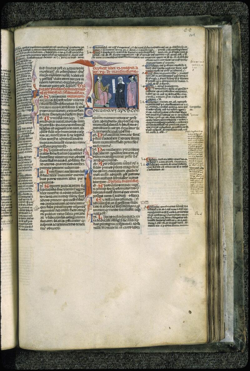 Lyon, Bibl. mun., ms. 0373, f. 202 - vue 1