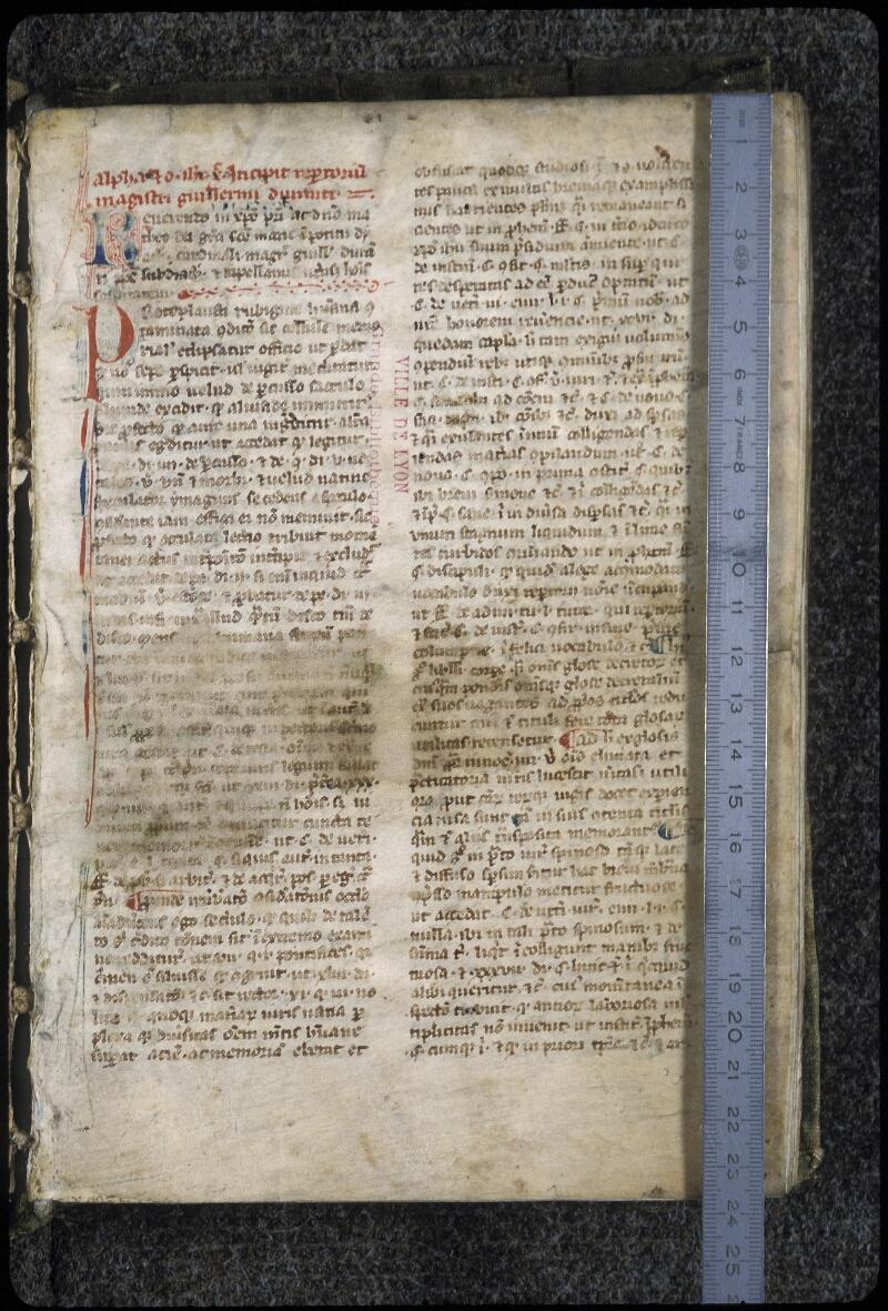 Lyon, Bibl. mun., ms. 0389, f. 003 - vue 1