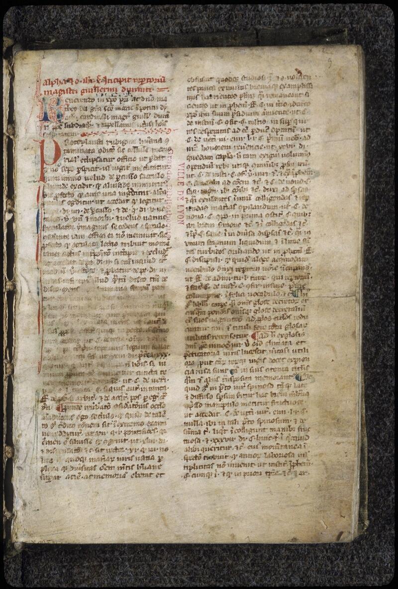 Lyon, Bibl. mun., ms. 0389, f. 003 - vue 2