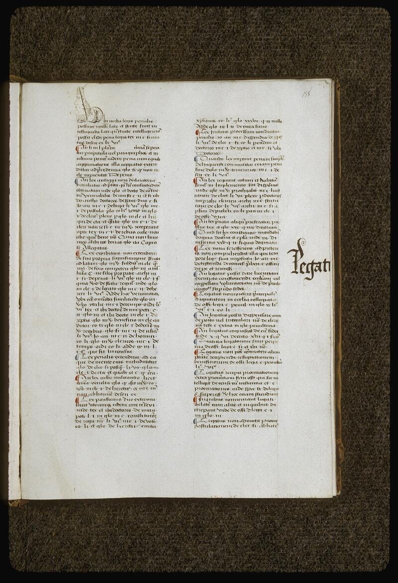 Lyon, Bibl. mun., ms. 0392, f. 158 - vue 1