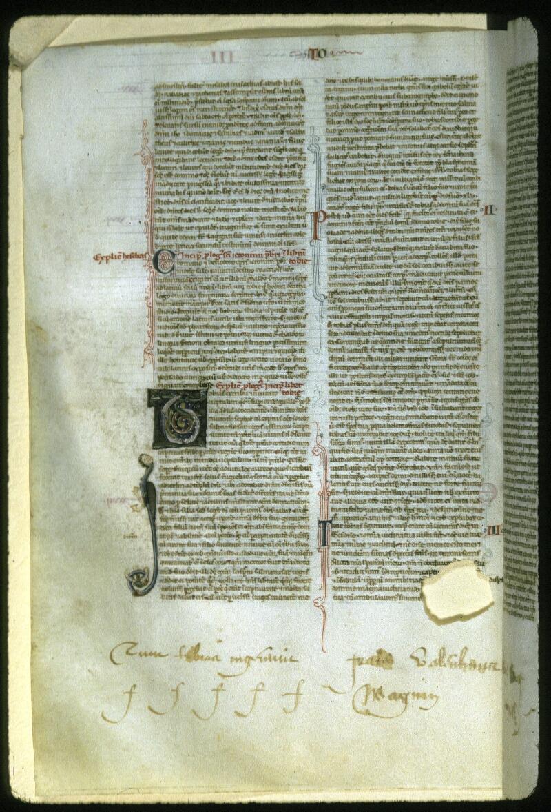 Lyon, Bibl. mun., ms. 0405, f. 111v - vue 1