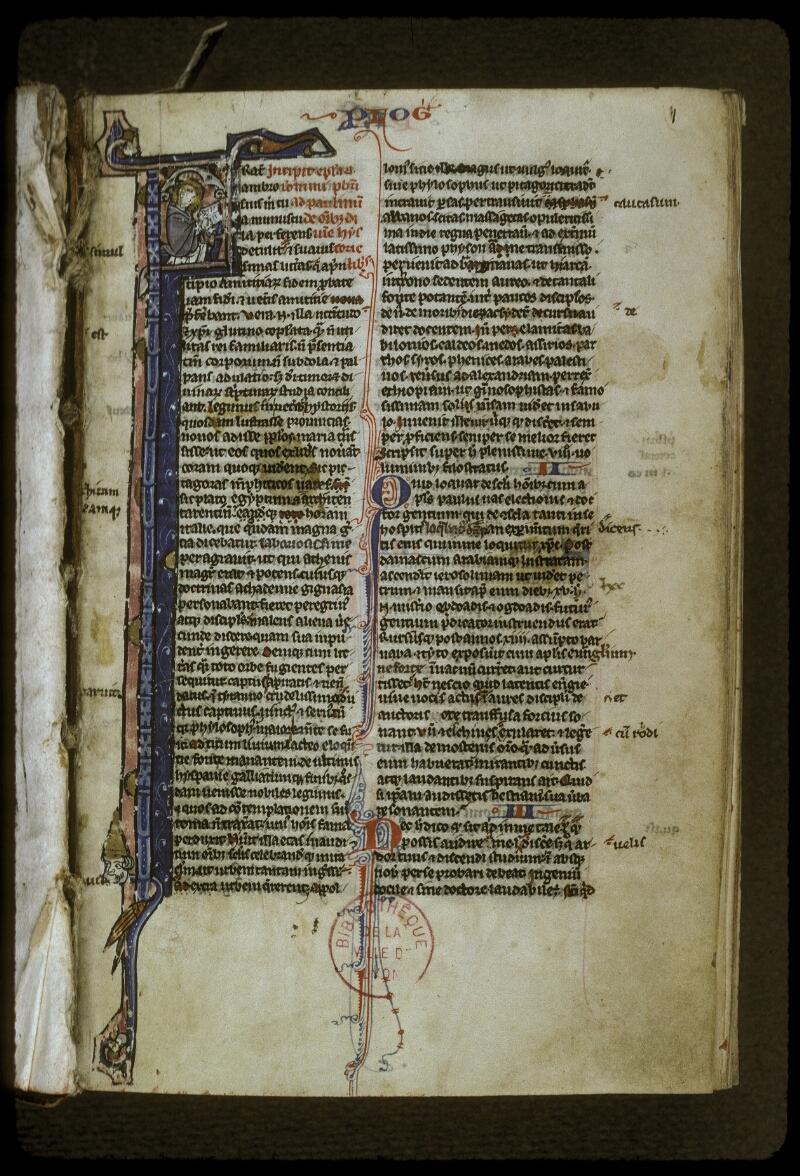 Lyon, Bibl. mun., ms. 0406, f. 001 - vue 2