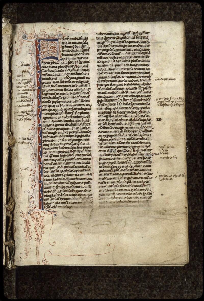 Lyon, Bibl. mun., ms. 0407, f. 000I - vue 2