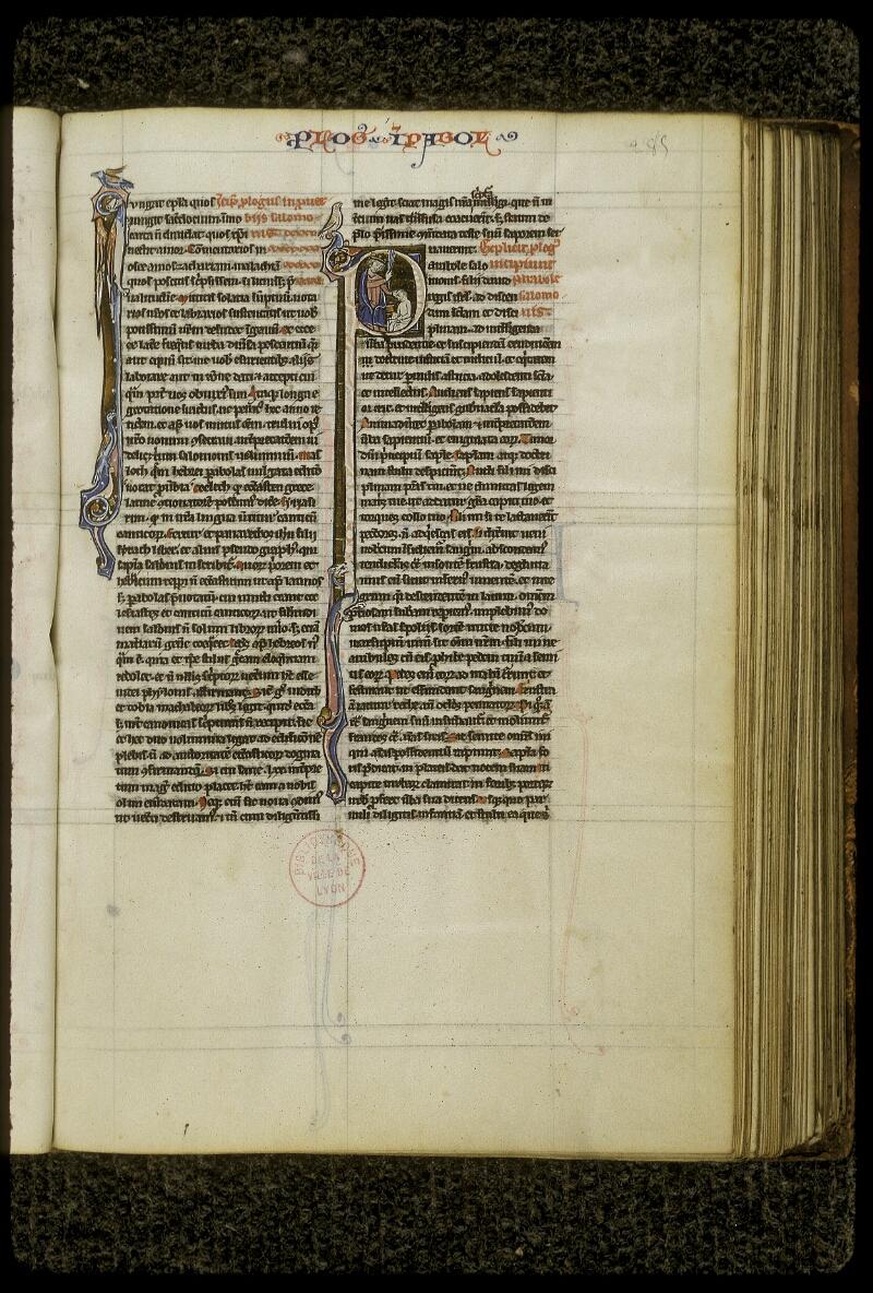 Lyon, Bibl. mun., ms. 0409, f. 285 - vue 1