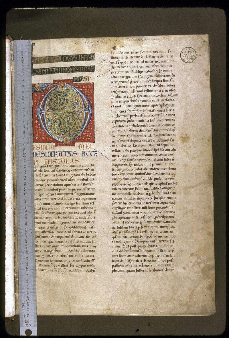 Lyon, Bibl. mun., ms. 0410, f. 001 - vue 1