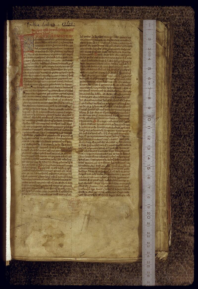Lyon, Bibl. mun., ms. 0415, f. 001 - vue 1