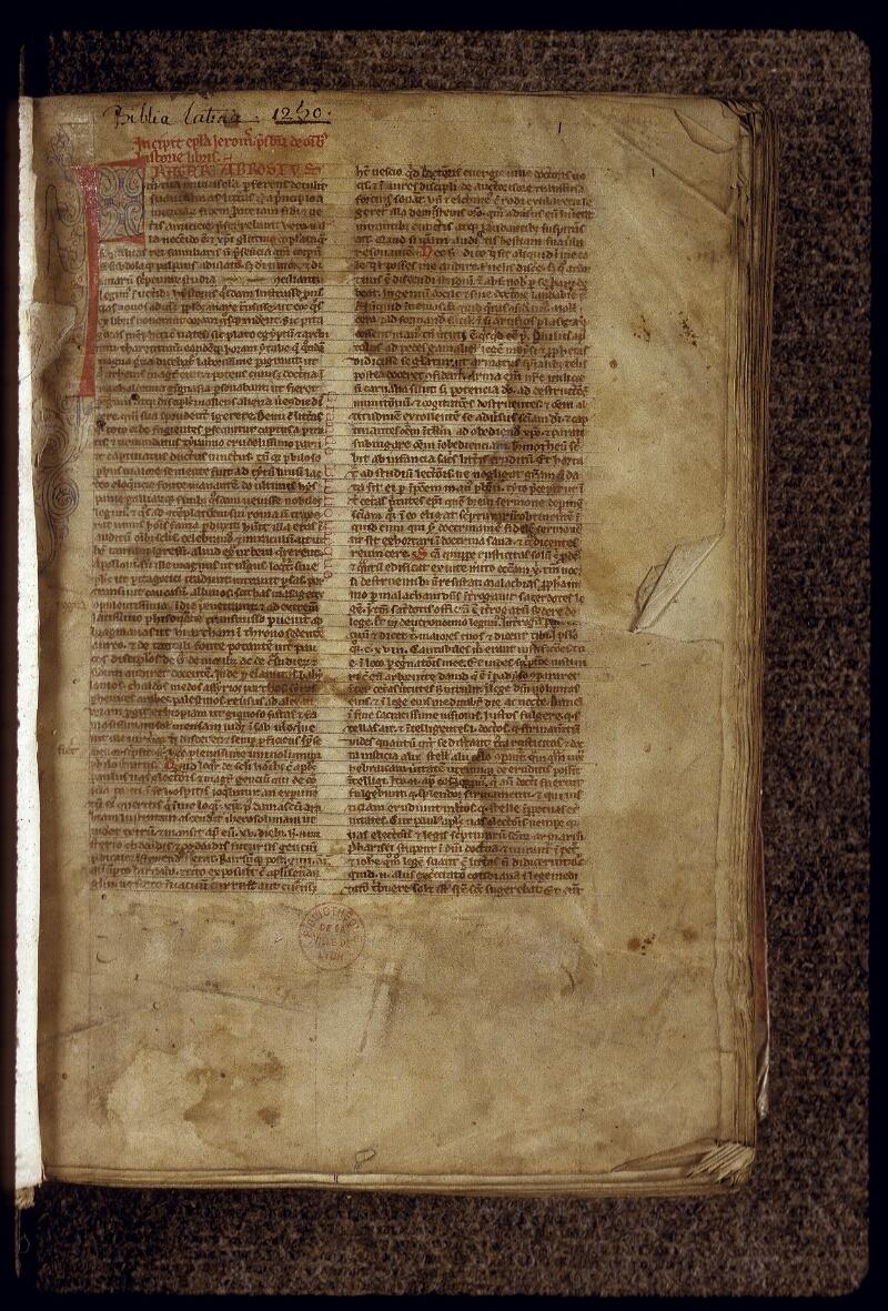 Lyon, Bibl. mun., ms. 0415, f. 001 - vue 2
