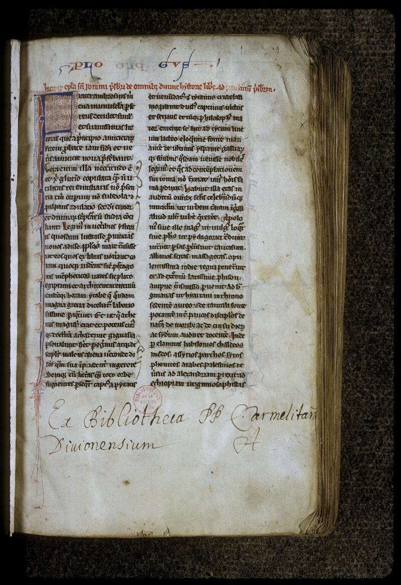 Lyon, Bibl. mun., ms. 0417, f. 003 - vue 2