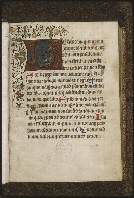 Lyon, Bibl. mun., ms. 0427, f. 001 - vue 2