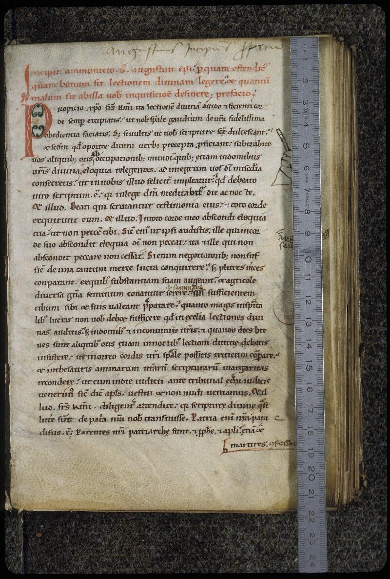 Lyon, Bibl. mun., ms. 0444, f. 001 - vue 1