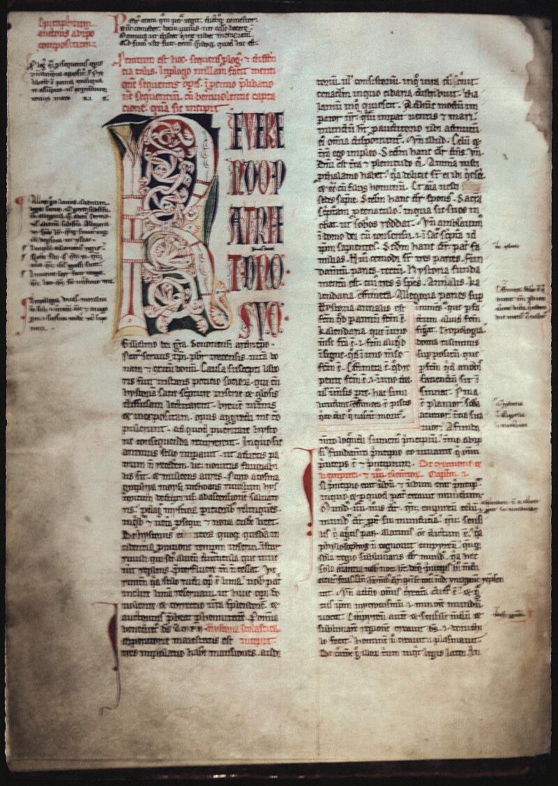 Lyon, Bibl. mun., ms. 0445, f. 009v - vue 1