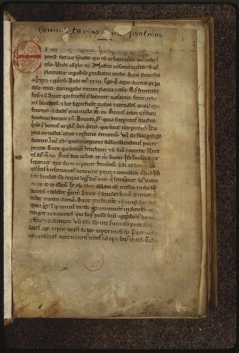 Lyon, Bibl. mun., ms. 0453, f. 001 - vue 2