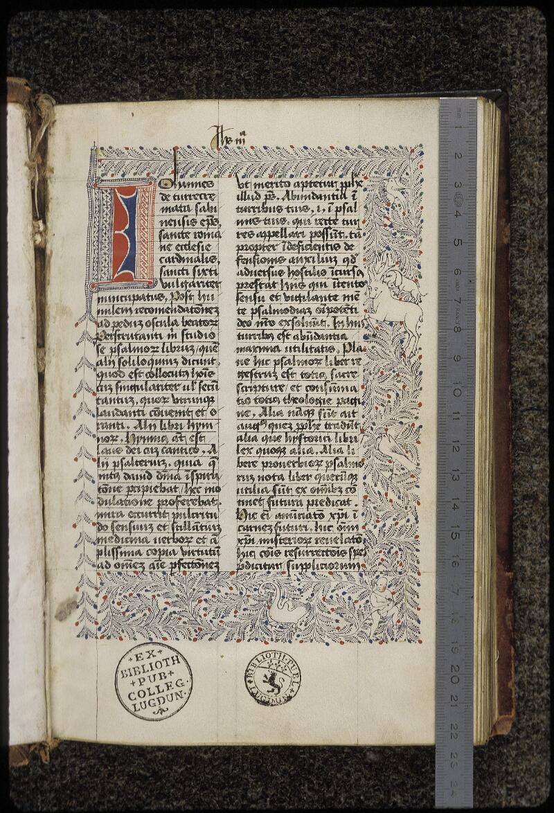 Lyon, Bibl. mun., ms. 0454, f. 001 - vue 1