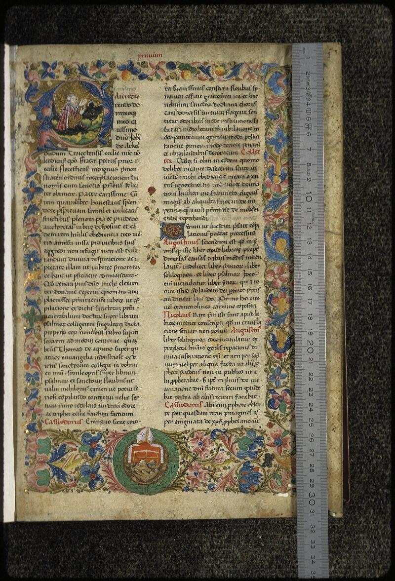 Lyon, Bibl. mun., ms. 0455, f. 001 - vue 1