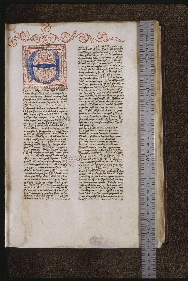 Lyon, Bibl. mun., ms. 0459, f. 001 - vue 1