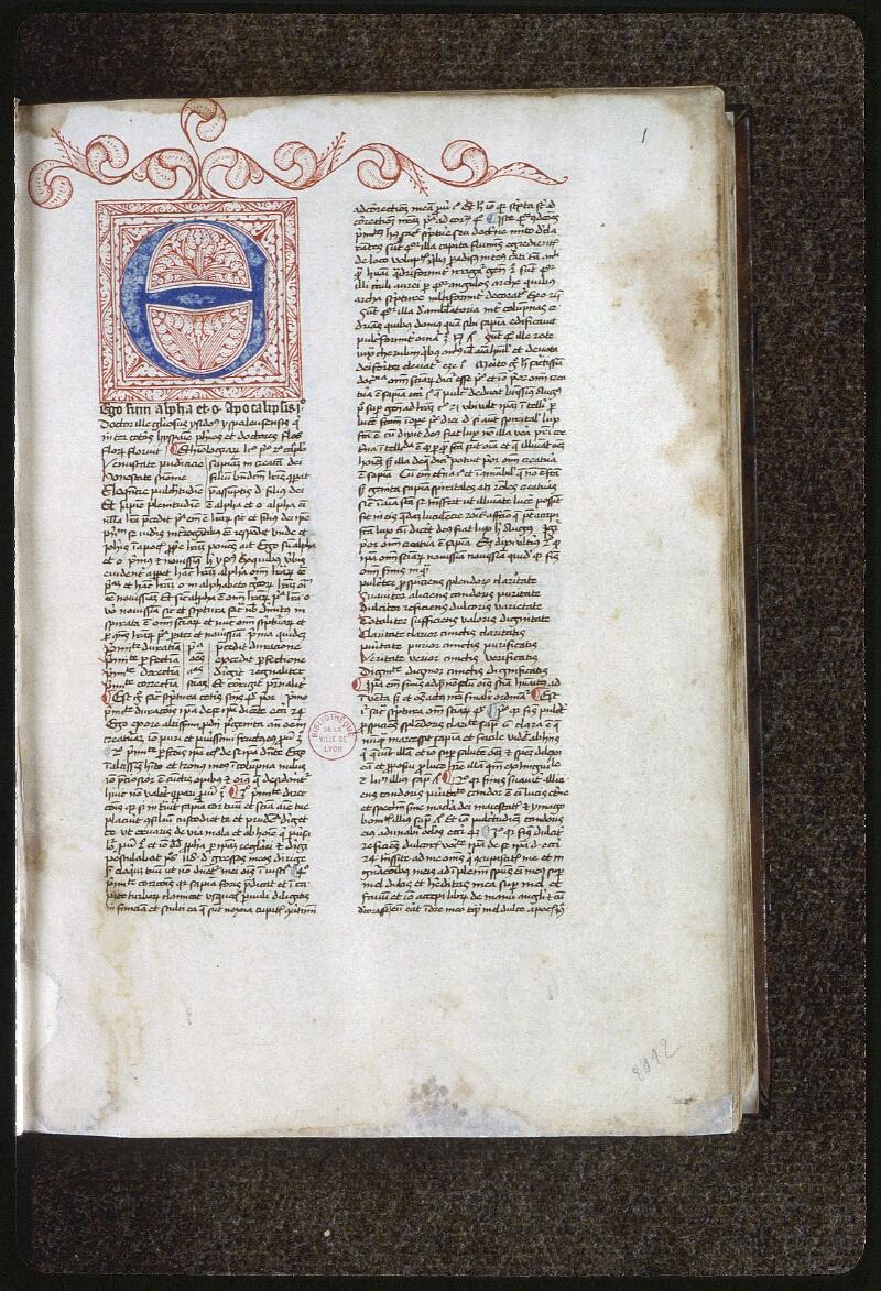 Lyon, Bibl. mun., ms. 0459, f. 001 - vue 2