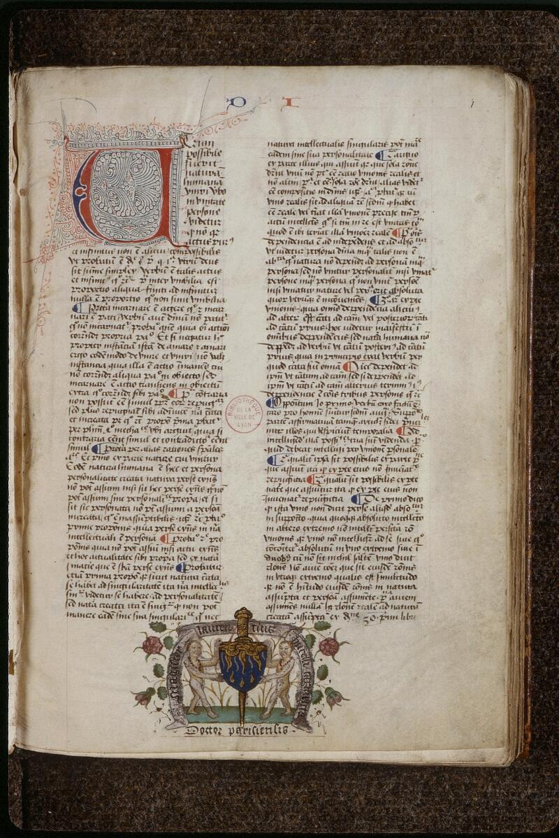 Lyon, Bibl. mun., ms. 0460, f. 001 - vue 2