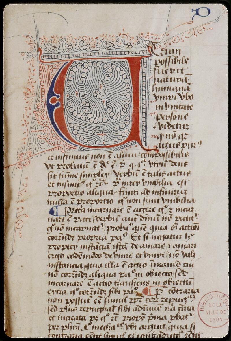 Lyon, Bibl. mun., ms. 0460, f. 001 - vue 3