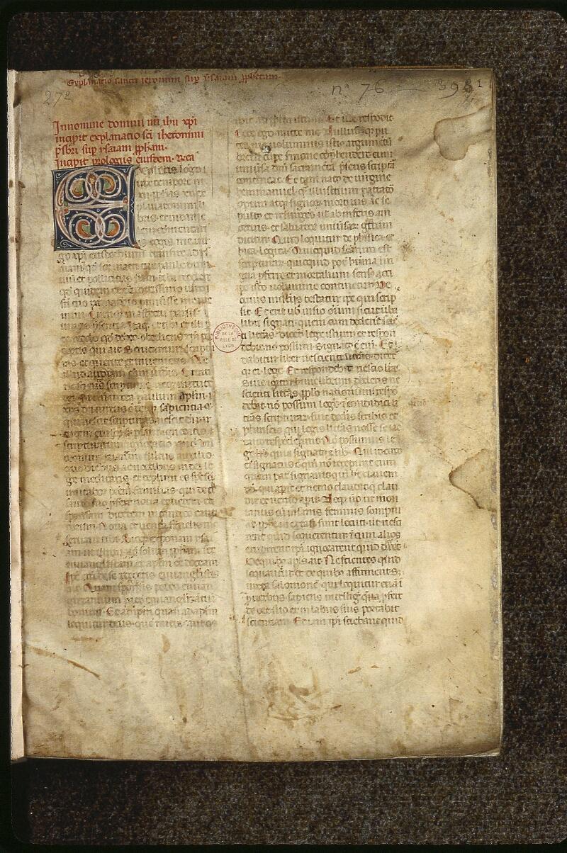 Lyon, Bibl. mun., ms. 0464, f. 001 - vue 2
