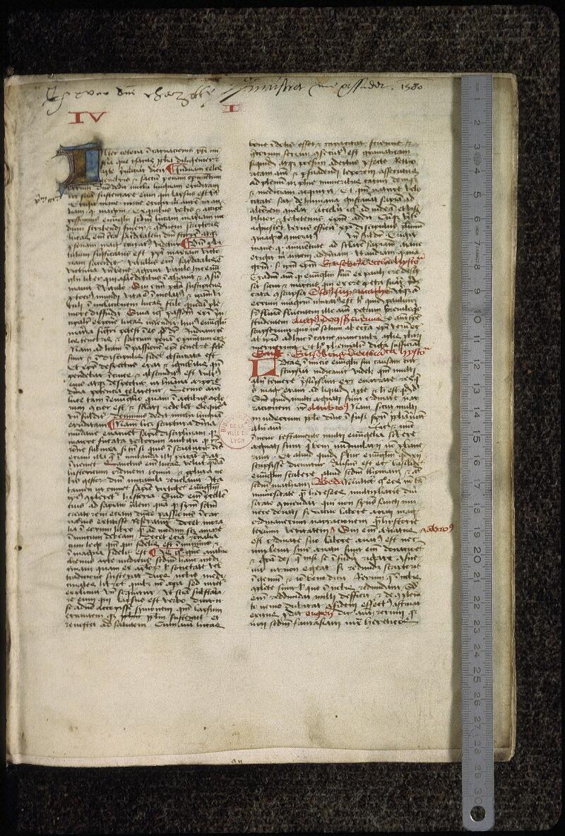 Lyon, Bibl. mun., ms. 0477, f. 001 - vue 1