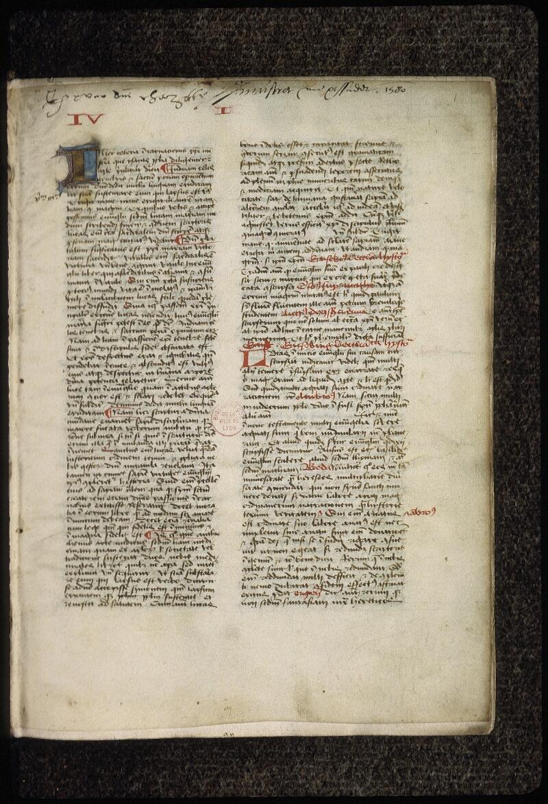 Lyon, Bibl. mun., ms. 0477, f. 001 - vue 2