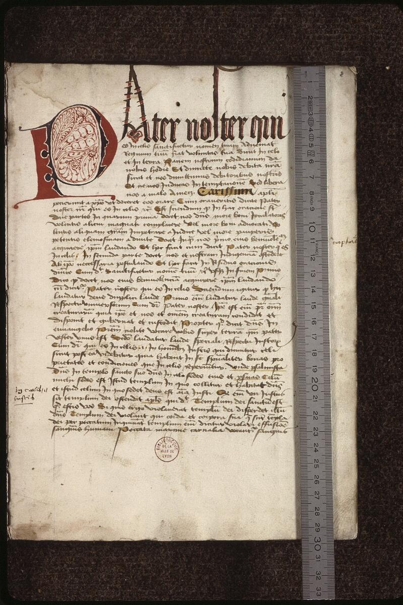 Lyon, Bibl. mun., ms. 0479, f. 002 - vue 1