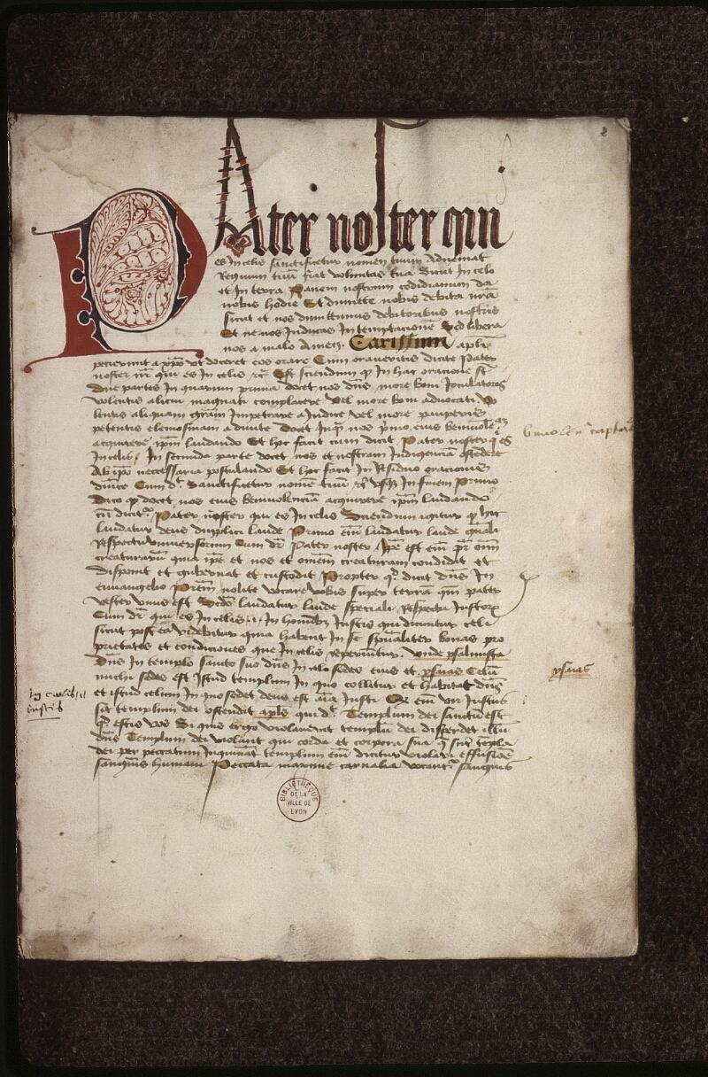 Lyon, Bibl. mun., ms. 0479, f. 002 - vue 2