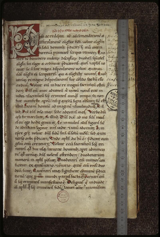 Lyon, Bibl. mun., ms. 0480, f. 001 - vue 1