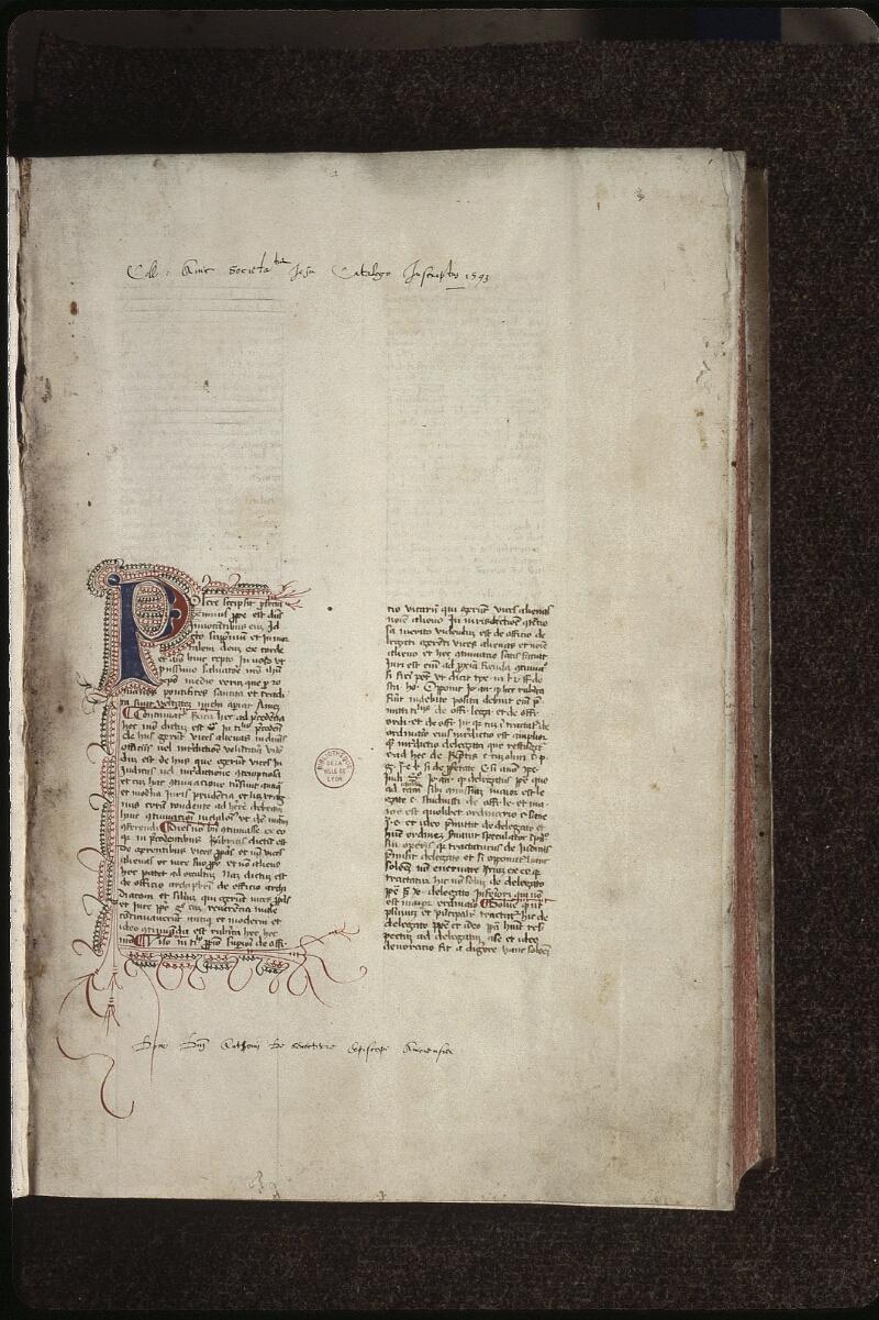 Lyon, Bibl. mun., ms. 0486, f. 001 - vue 2