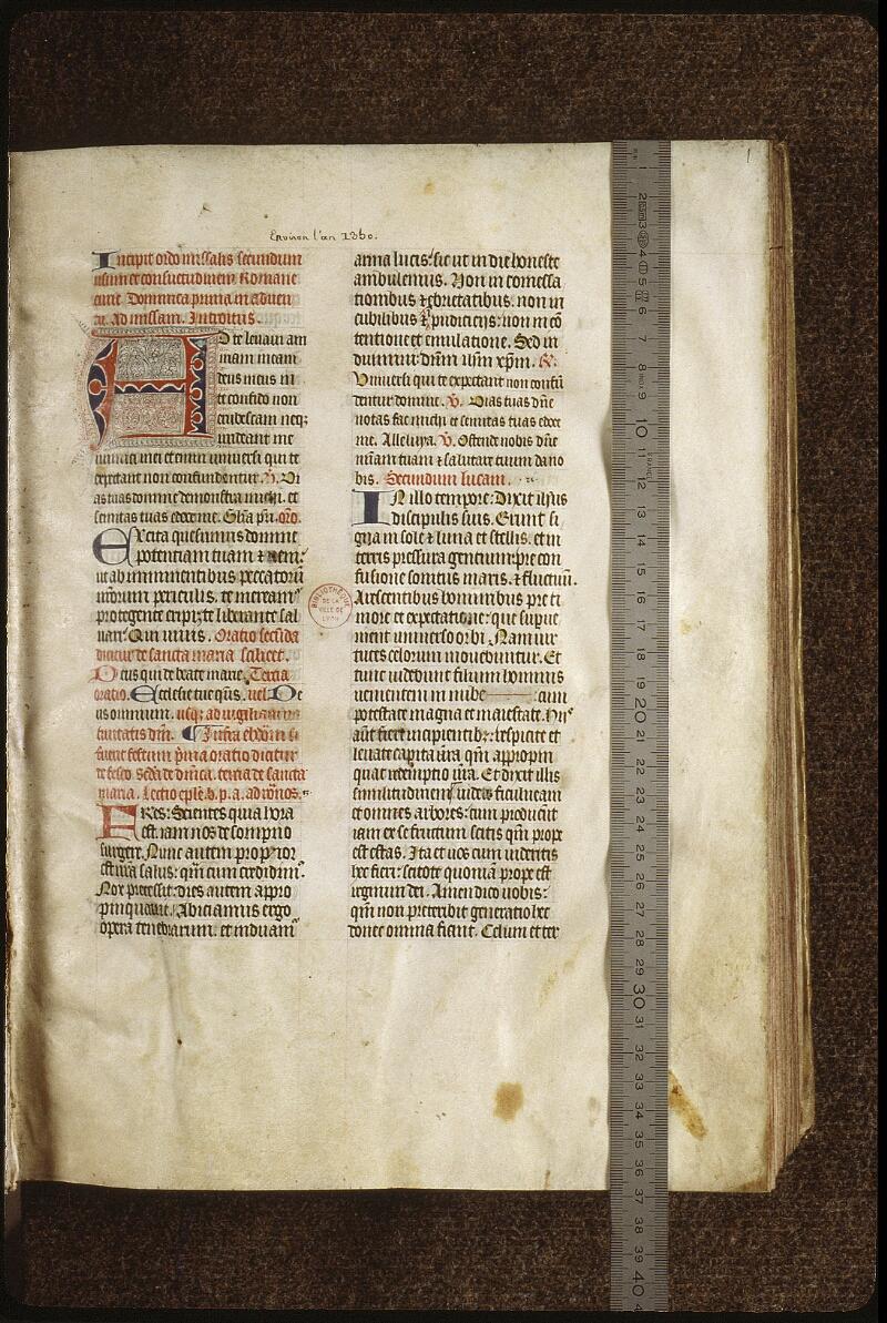 Lyon, Bibl. mun., ms. 0520, f. 001 - vue 1