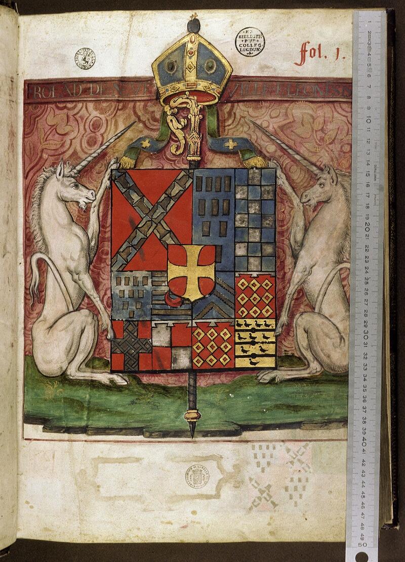 Lyon, Bibl. mun., ms. 0521, f. 001 - vue 1