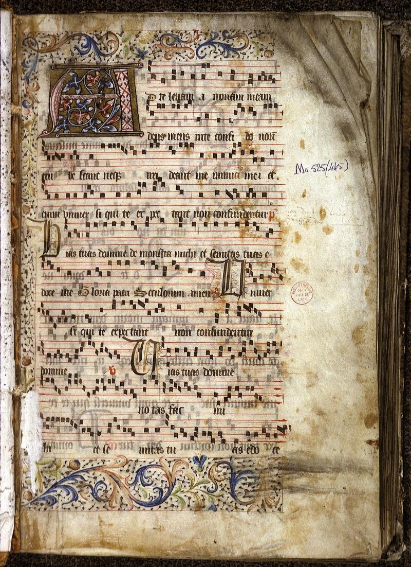 Lyon, Bibl. mun., ms. 0525, f. 001 - vue 2